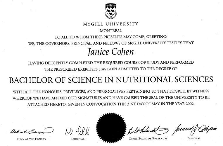 Bachelor of Science in Nutritional Sciences